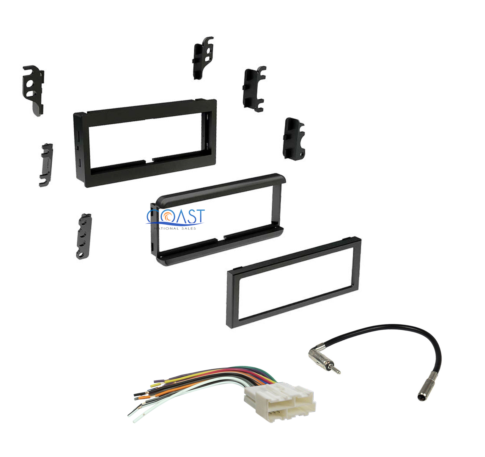 Single Din Car Dash Kit Harness Antenna For Gmc
