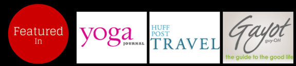 Featured in Yoga Journal, HuffPost Tavel and Gayot
