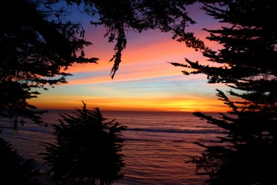 Sunset at Fitzgerald Marine reserve in Moss Beach. Dawn Page/CoastsideSlacking