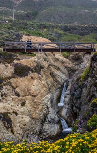 Waterfall at Garrapata State Beach. Dawn Page/CoastsideSlacking