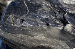 Obsidian at the Newberry National Volcanic Monument. Dawn Page / CoastsideSlacking