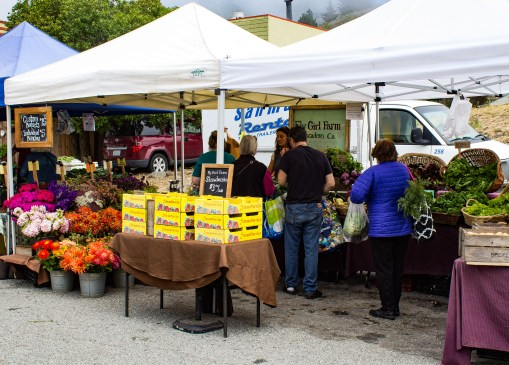 Coastside Farmer's Market in Pacifica, CA. Dawn Page / CoastsideSlacking