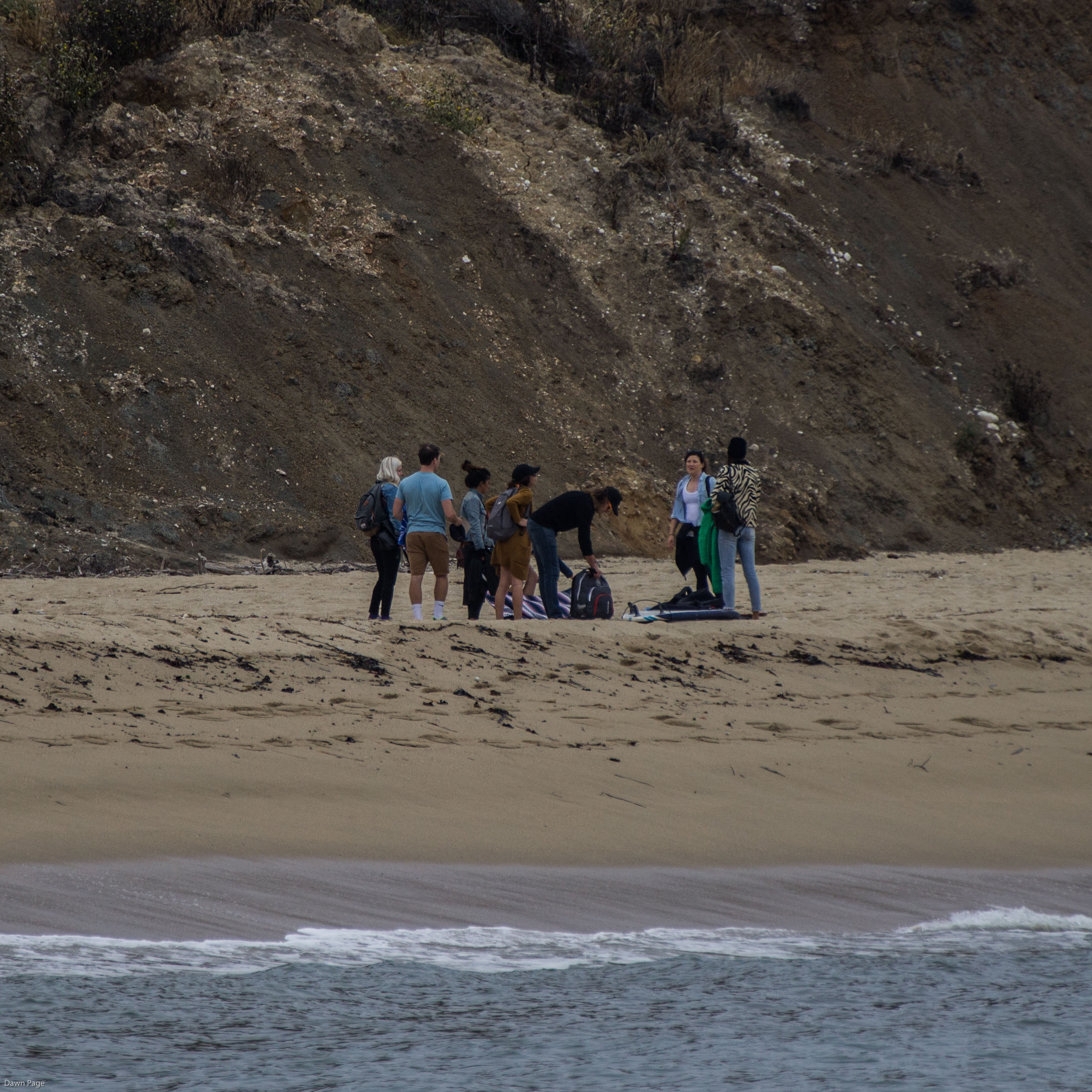 Friends at Martins Beach, near Half Moon Bay, California. Dawn Page / CoastsideSlacking