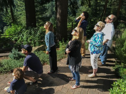 We are in awe viewing the total eclipse in Silverton Oregon. Dan Page / CoastsideSlacking