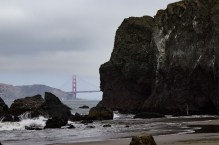 The Lands End, with a glimpse of the Golden Gate Bridge. Dawn Page / CoastsideSlacking