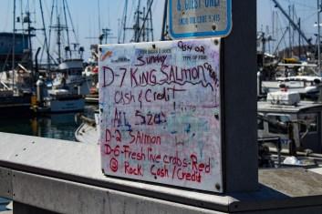 Fish for sale at Pillar Point Harbor. Dawn Page / CoastsideSlacking