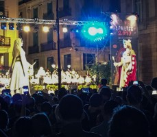 Dance of the gegants during the La Mercé festival in Barcelona. Dan Page / CoastsideSlacking