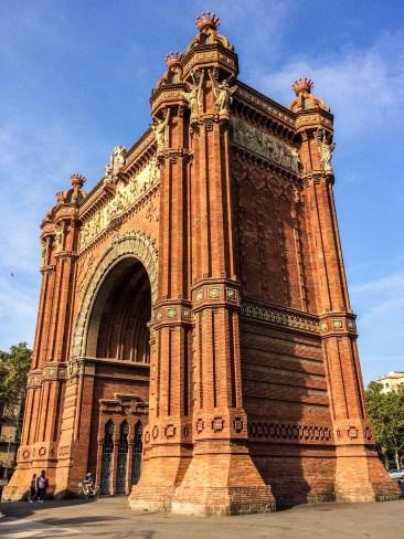 Arc de Triomf in Barcelona. Dawn Page / CoastsideSlacking