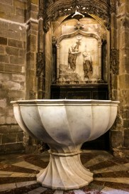 Baptistry in Barcelona Cathedral. Dawn Page / CoastsideSlacking
