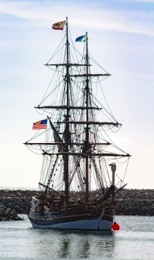 The Lady Washington, docked at Pillar Point Harbor. Dawn Page / CoastsideSlacking