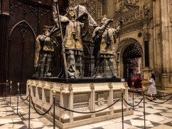 Tomb of Christopher Columbus in Seville Cathedral. Andalusia, Spain. Dawn Page / CoastsideSlacking