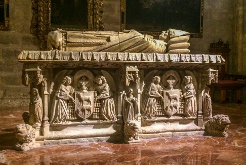Bishop's tomb in Seville Cathedral. Andalusia, Spain. Dawn Page / CoastsideSlacking