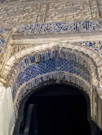 Moorish plaster work in Alcazar palace in Seville. Andalusia, Spain. Dawn Page / CoastsideSlacking