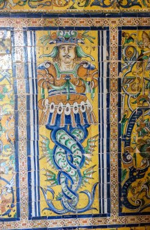A bit of whimsy in the Alcazar palace in Seville. Andalusia, Spain. Dawn Page / CoastsideSlacking
