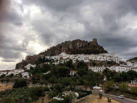 Village of Zahara de la Sierra with moorish fortress ruins above. Andalusia, Spain. Dawn Page / CoastsideSlacking