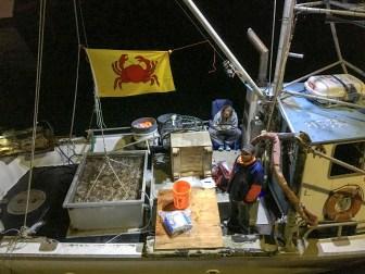 Seafood on sale at the Pillar Point Harbor Lighted Boat Festival. Dan Page / CoastsideSlacking