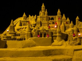 Sand art at La Malvarrosa Beach in Valencia, Spain. Dawn Page / CoastsideSlacking