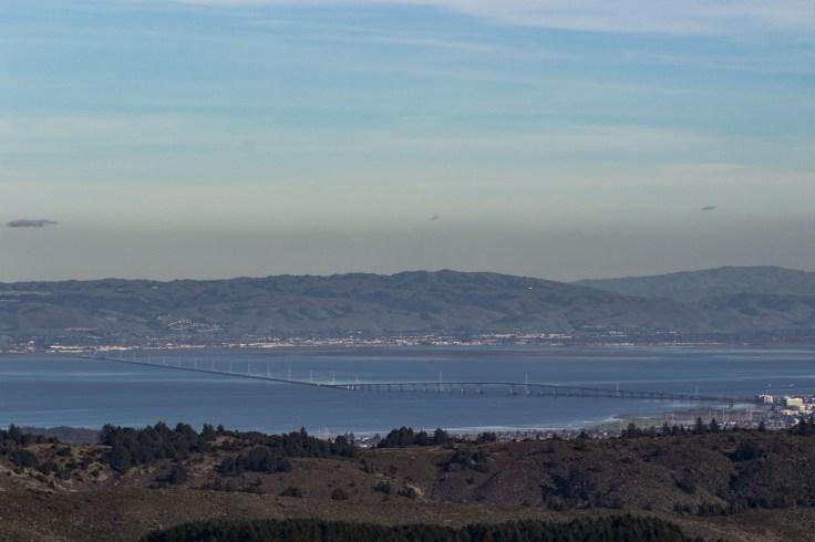 San Mateo-Hayward Bridge. Montara Mountain. Dawn Page / CoastsideSlacking