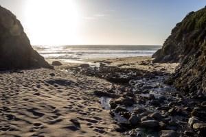 Doud Creek empties onto Garrapata Beach, Big Sur, CA. Dawn Page/CoastsideSlacking