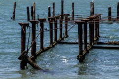 Pier at Camp Reynolds, Angel Island State Park. Dawn Page/CoastsideSlacking