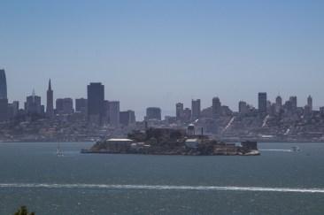 Alcatraz Island and the San Francisco skyline from Angel Island. Dawn Page/CoastsideSlacking