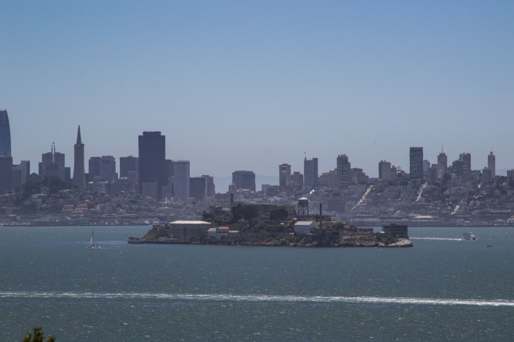 Alcatraz Island and the San Francisco skyline from Angel Island. Dawn Page/CoastsideSlacking
