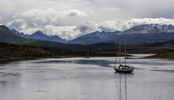 View from Gable Island, Tierra del Fuego. Dawn Page/CoastsideSlacking