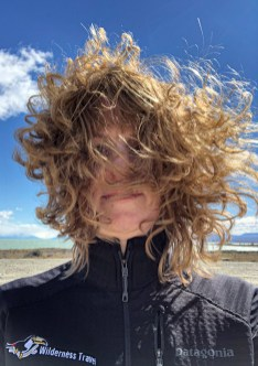 Gale winds in the Patagonian Desert. Photo courtesy Becky Bacon