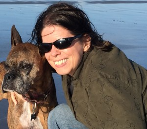 deb at beach