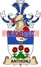 anthonj coat of arms family crest