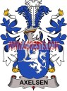 axelsen coat of arms family crest