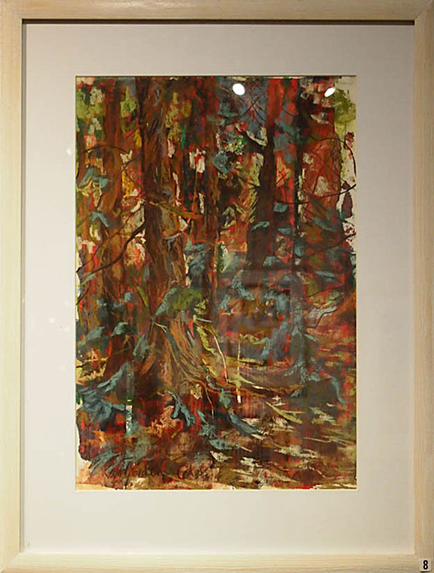 Astrig Akseralian Inside the Cedars 57x43cm; Acrylics, pastels, charcoal £270