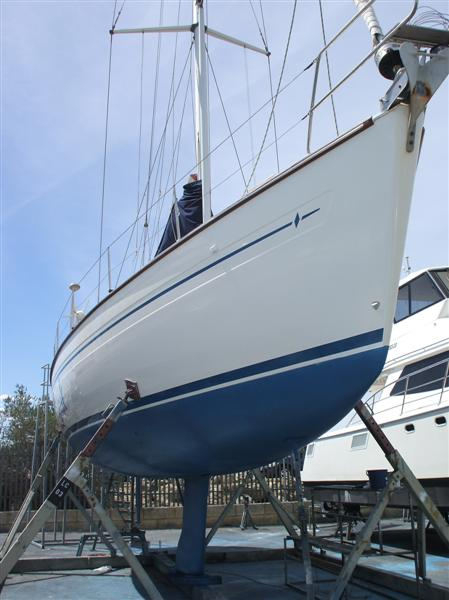 restored fibreglass boat