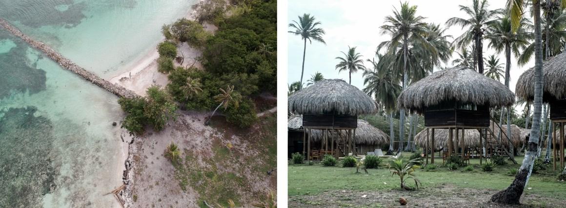 palm trees hut isla