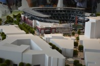 Model view of the mixed-used development and SunTrust Park.