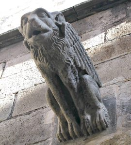 Gargoyle on a wall of the Barcelona Cathedral