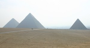 The three pyramids on the Giza Plateau