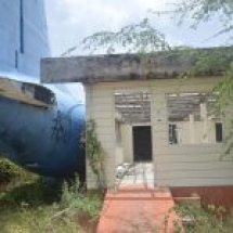The wreck of an Air Aruba aircraft is being reclaimed by the jungle