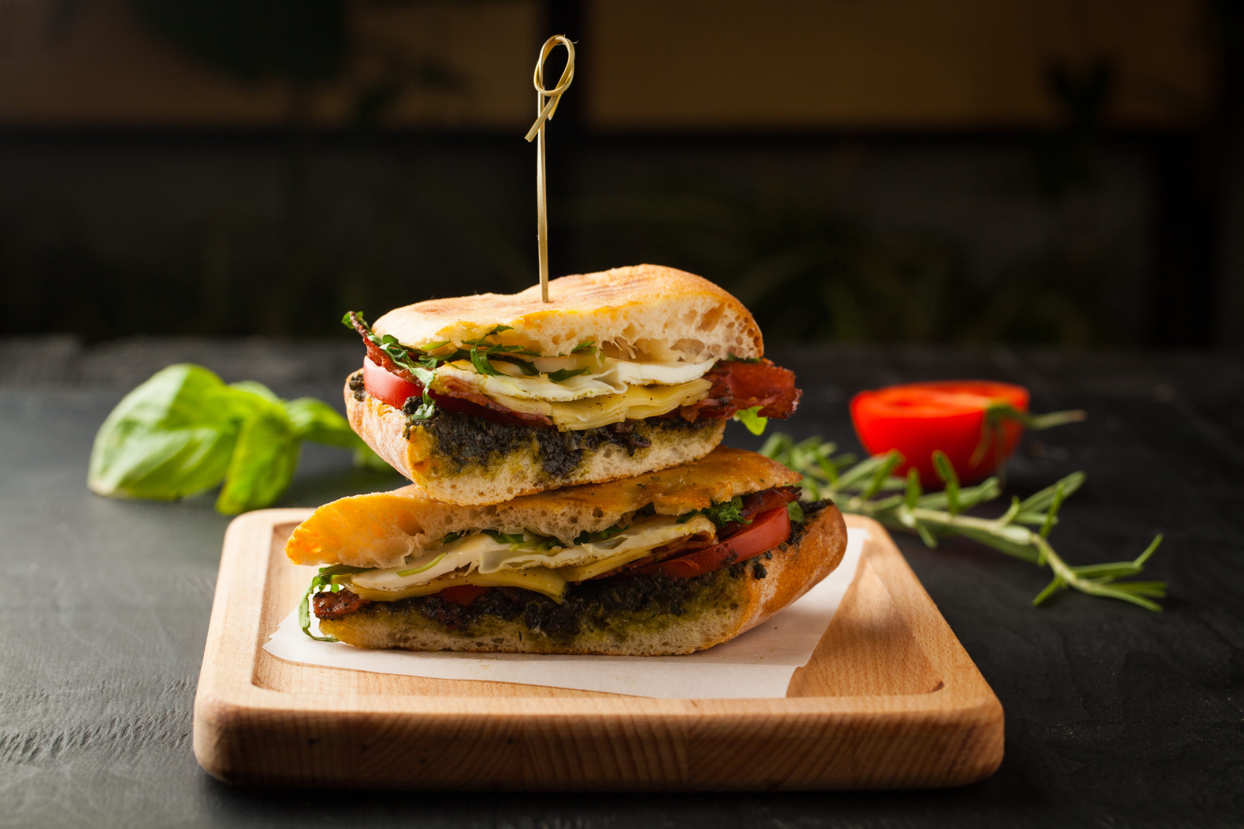 Cheese Pesto Sandwich