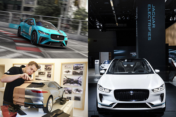 Jaguar I-PACE all-electric race series, Jaguar pushes design frontiers at London show and Jaguar I-PACE concept at Frankfurt Motor Show 2017