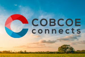 COBCOE Connects logo and images