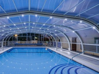 Luces led en la piscina