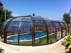 Cúpula de piscina movil