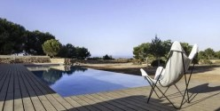 Cubierta piscina en Formentera