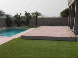cubierta plana piscina