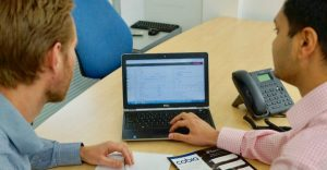 Accounting software training session