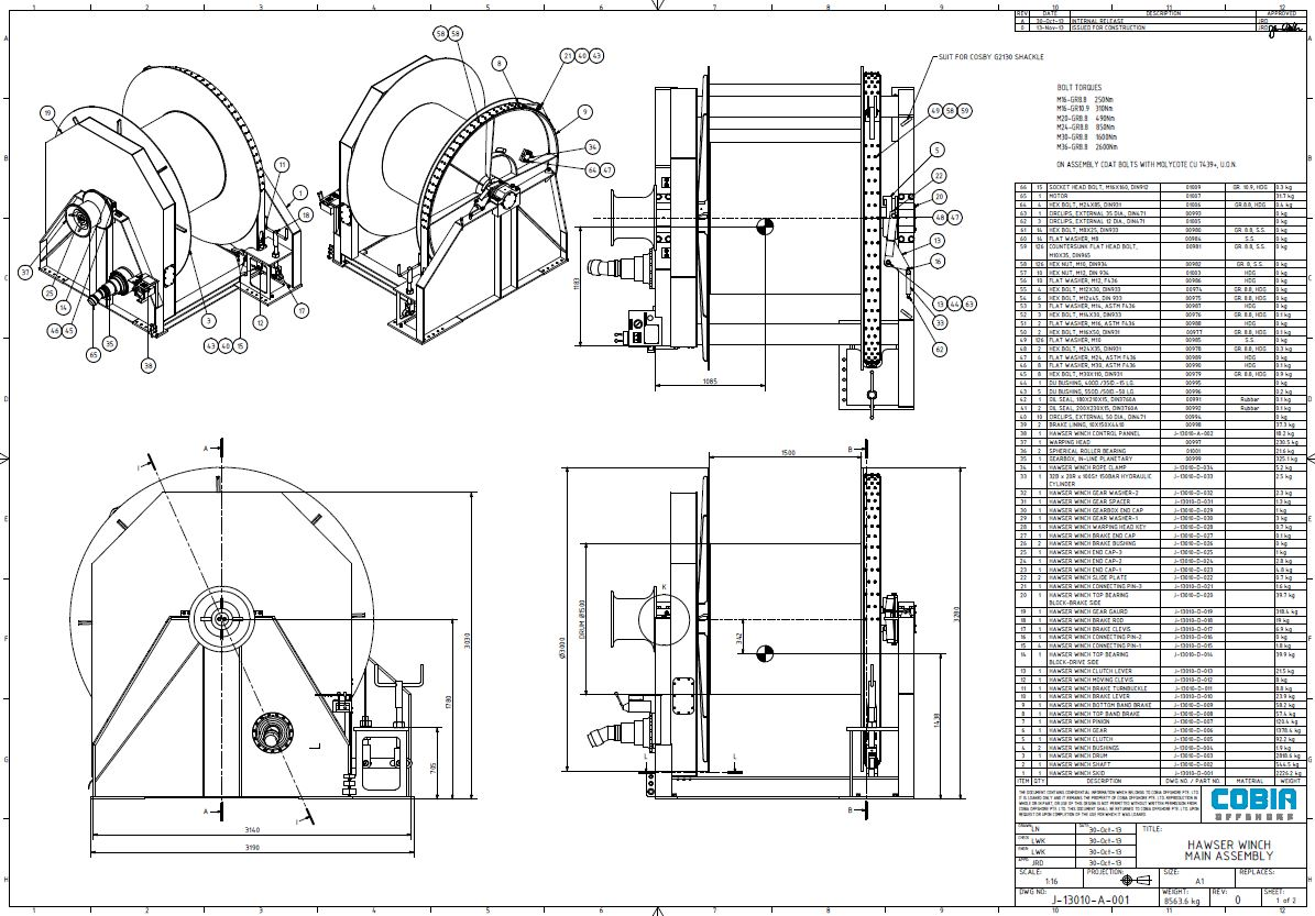 Winches Hose Reels Spooling Machines And Reel Drives