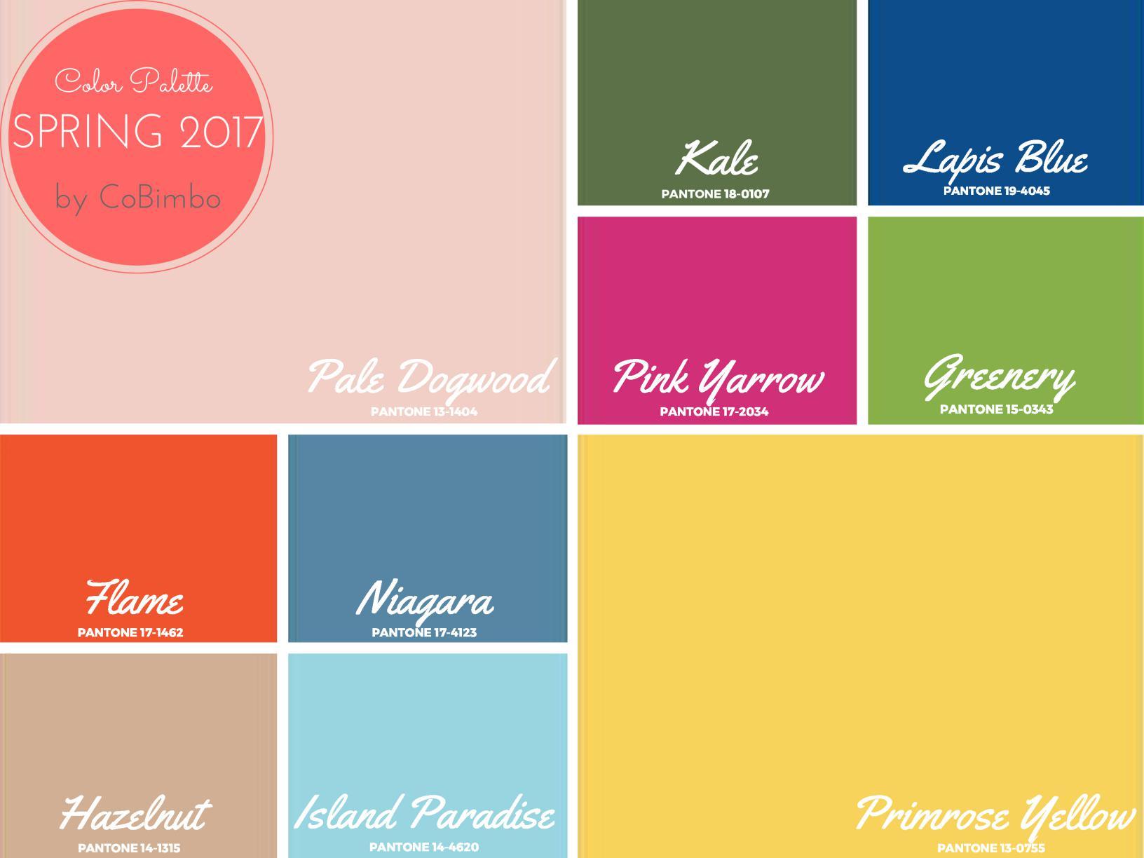 La palette pantone primavera 2017 tendenze colore per la for Colori per la casa 2017