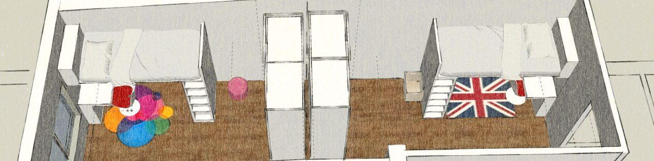 Cameretta per due bambini come separare gli spazi cobimbo - Dividere una camera in due ...