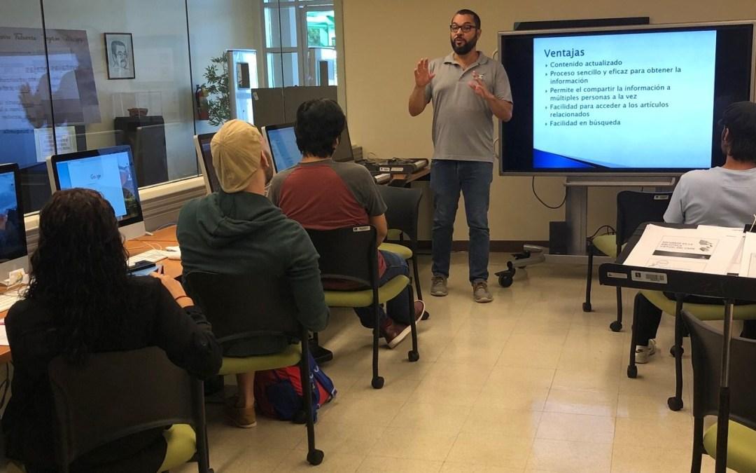 COBIMET capacita estudiantes sobre Biblioteca Virtual